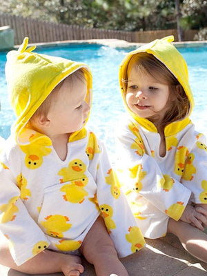 Zoocchini - Puddles the Duck Terry Swim Cover up - Stylemykid.com