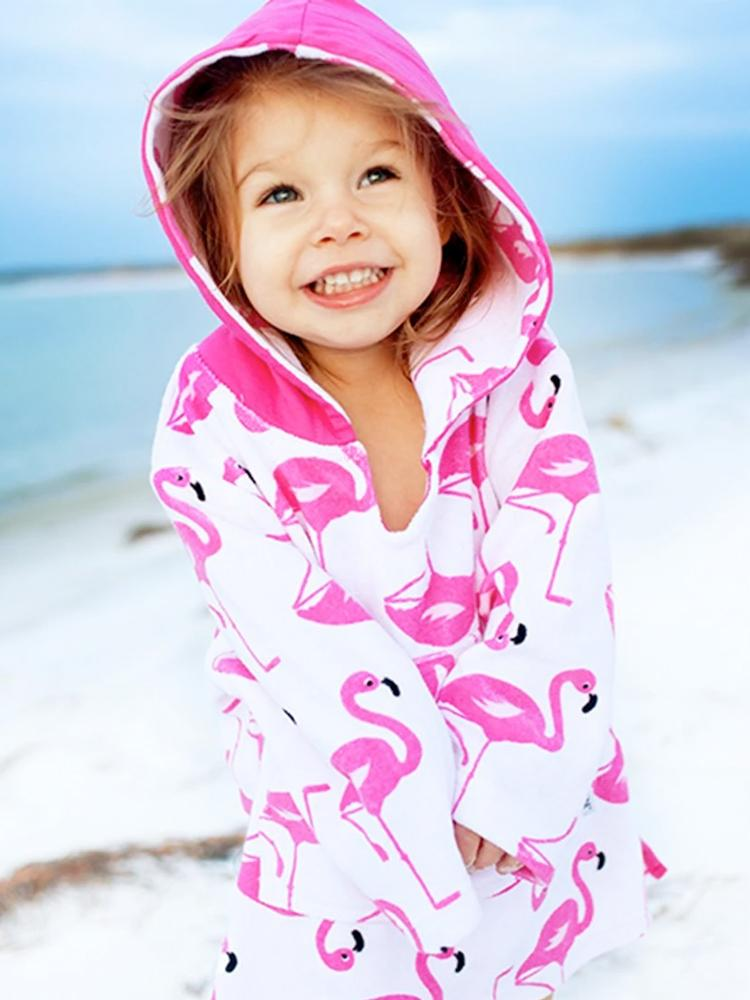 Zoocchini - Franny the Flamingo Terry Swim Cover up - Stylemykid.com