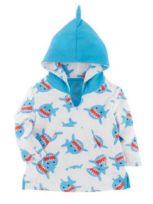 Zoocchini - Terry Bath & Swim Cover up with Character Hood - Sherman the Shark - Stylemykid.com