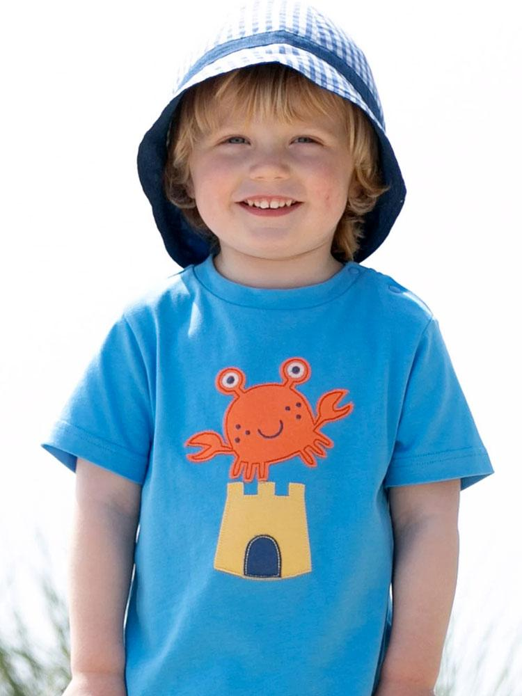 KITE Organic - Crab & Castle T-shirt from 0-3 months - Stylemykid.com