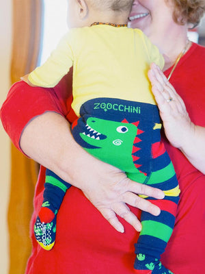 Devin the Dinosaur Baby Leggings & Socks Set - Stylemykid.com