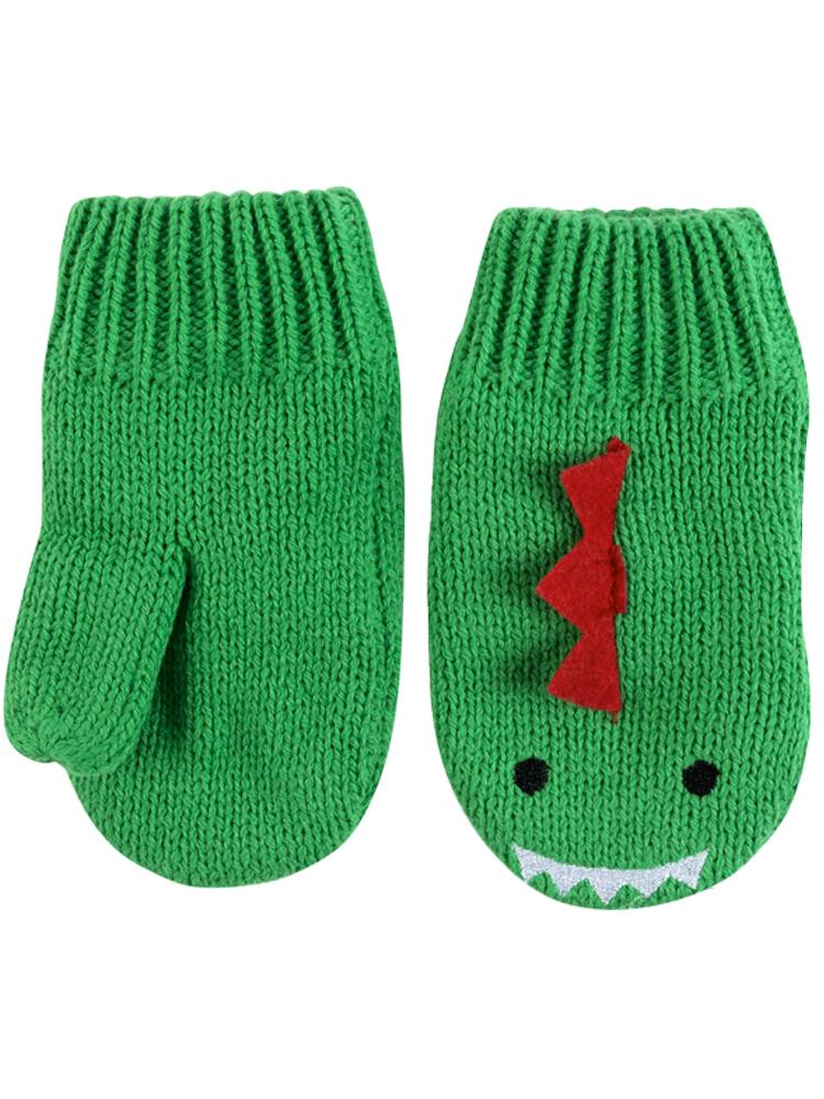 Zoocchini -  Kids Knit Mittens - Devin The Dinosaur - 1-2Y - Stylemykid.com