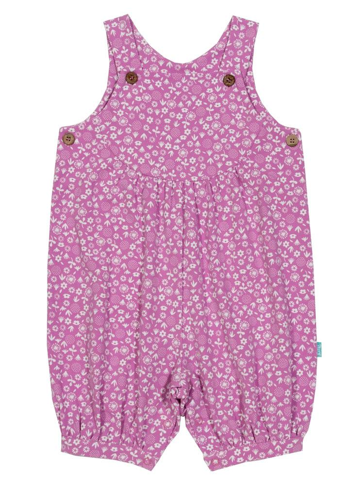 KITE Organic - Ditsy Floral Romper Style Dungarees from 0-3 months - Stylemykid.com