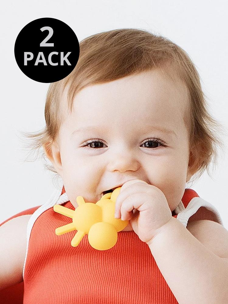Doddle & Co - Baby Chew Teether - 2 Pack - THE CHEW Hello Sunshine & Looks Like Rain - Stylemykid.com