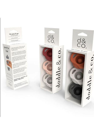 Doddle & Co - Pop & Go Dummy with Built In Case - 3 Pack Upper Rust, Just Peachy & Cream of the Crop - Stylemykid.com