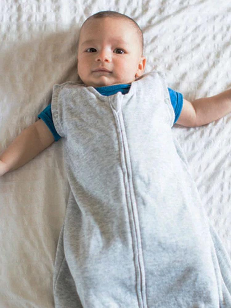Juddlies Dream Swaddle Baby Sleeping Bag - Breathe EZE Fleck Collection - Grey - Stylemykid.com