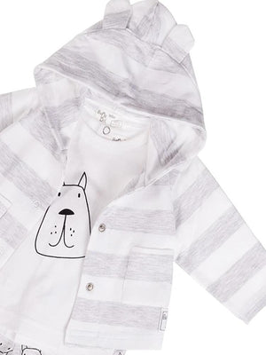 Babybol - Dream Doggy Baby 3 Piece Outfit with 3D Ears Hoody - Stylemykid.com