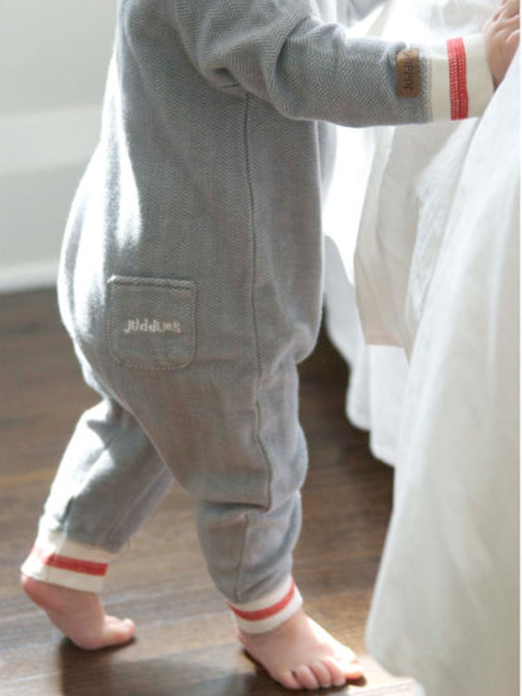 Juddlies - Organic Driftwood Grey Baby Sleepsuit / Playsuit - Cottage Collection - Stylemykid.com