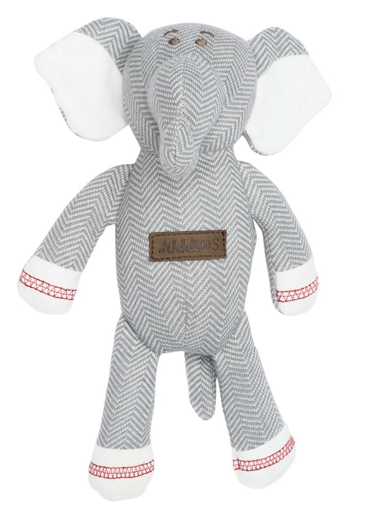 Juddlies - Baby Soft Toy Rattle Comforter - Organic Driftwood Grey Elephant - Cottage Collection - Stylemykid.com