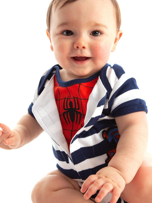 Spider-Man - Reveal Babygrow - Official Marvel Merchandise for babies - 6 -18 Months - Stylemykid.com