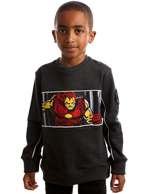 Marvel Invincible Iron Man Sweatshirt - 3-7 Years - Stylemykid.com