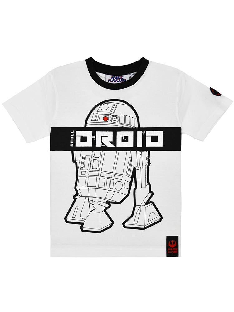 Star Wars Rebel Droid White & Black T-Shirt - Stylemykid.com