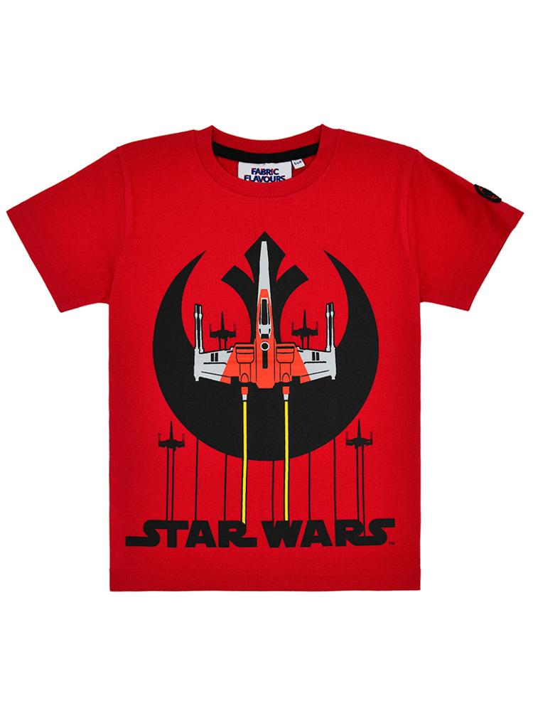 Star Wars Rebel Squadron Red and Black T-Shirt - 3 - 7 years - Stylemykid.com