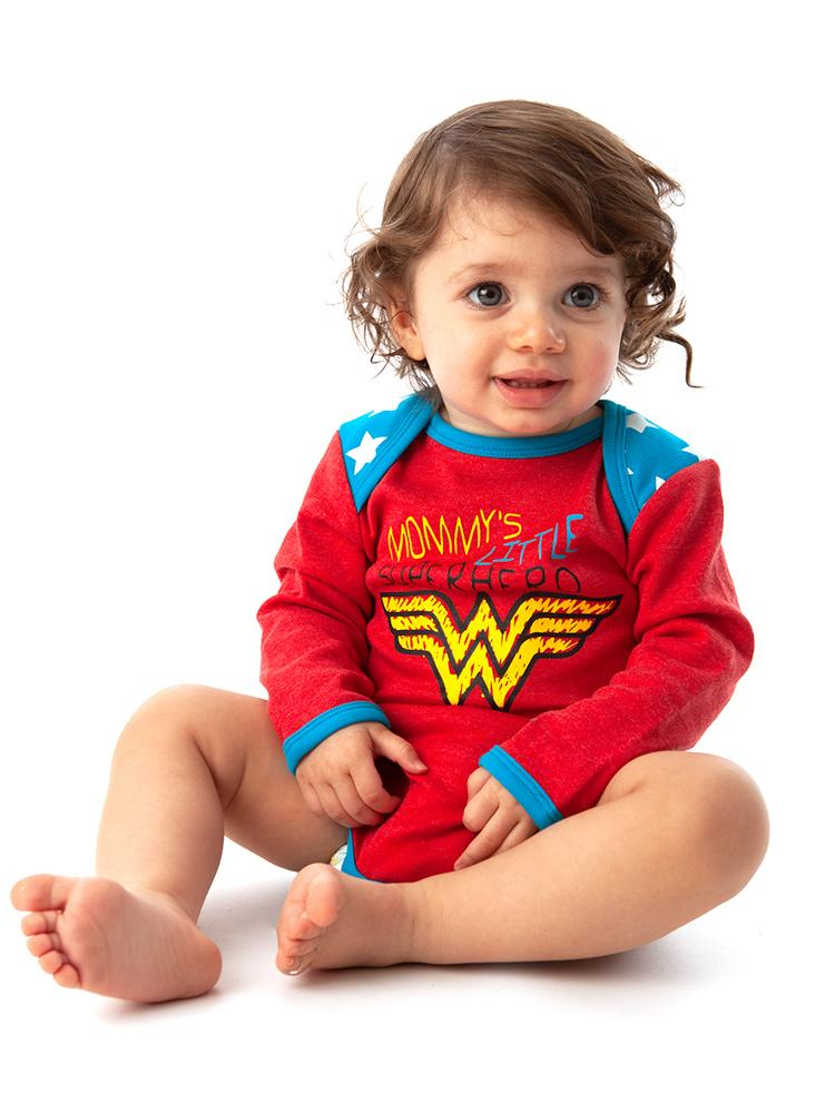 Wonder Woman Babygrow 2 Pack - Superhero and Stars - 0-6 months to 18-24 months - Stylemykid.com