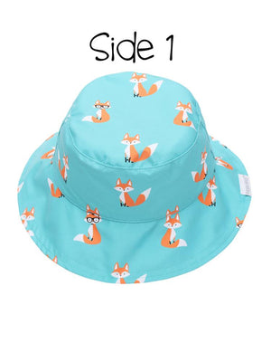 Reversible UPF 50+ Sun Hat - Fox - Hedgehog - Stylemykid.com