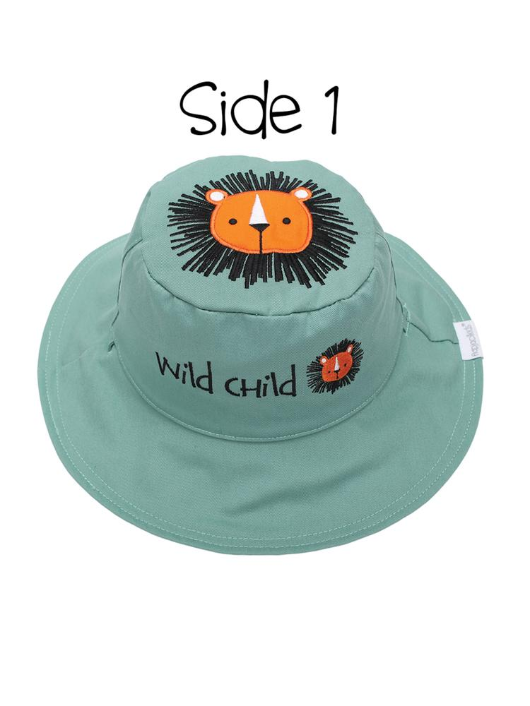 Reversible UPF 50+ Sun Hat - Lion - Sloth - Stylemykid.com