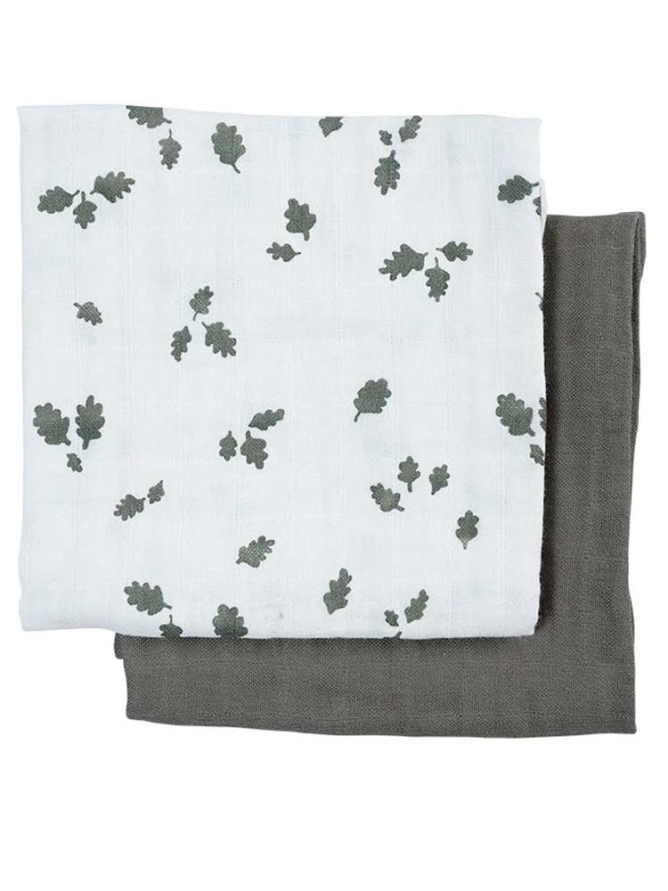 Fabelab - Muslin Cloths - 2 Pack - Oak Leaf - Stylemykid.com