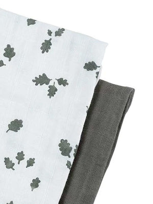 Fabelab - Muslin Cloth - 2 Pack - Oak Leaf - Stylemykid.com