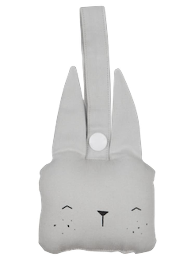 Fabelab - Organic Animal Rattle - Bunny - Icy Grey - Stylemykid.com