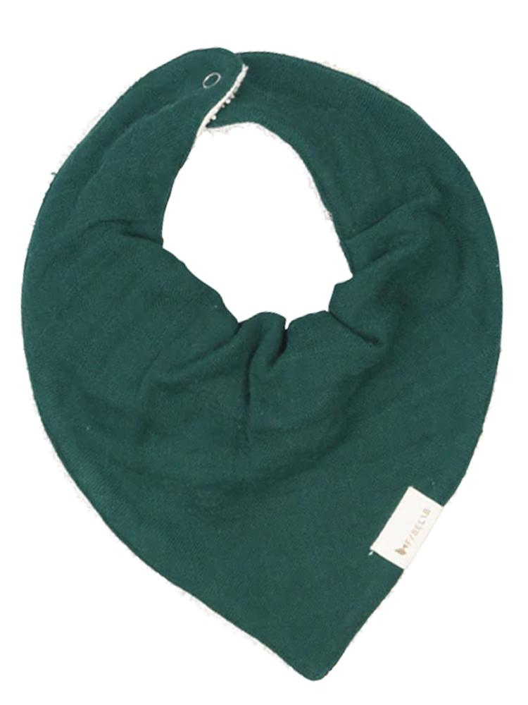 Fabelab - Organic Large Bandana Bib with Terry Backing - Evergreen - Stylemykid.com