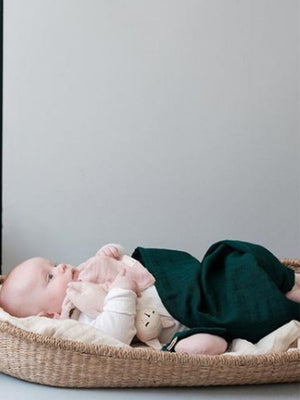 Fabelab - Evergreen Extra Large 1.2m Multiuse Swaddle Wrap - 100% Organic Baby Swaddle - Stylemykid.com