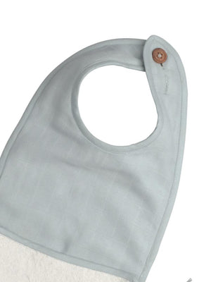 Fabelab - Organic Large Feeding Bib with Terry Backing - Foggy Blue - Stylemykid.com