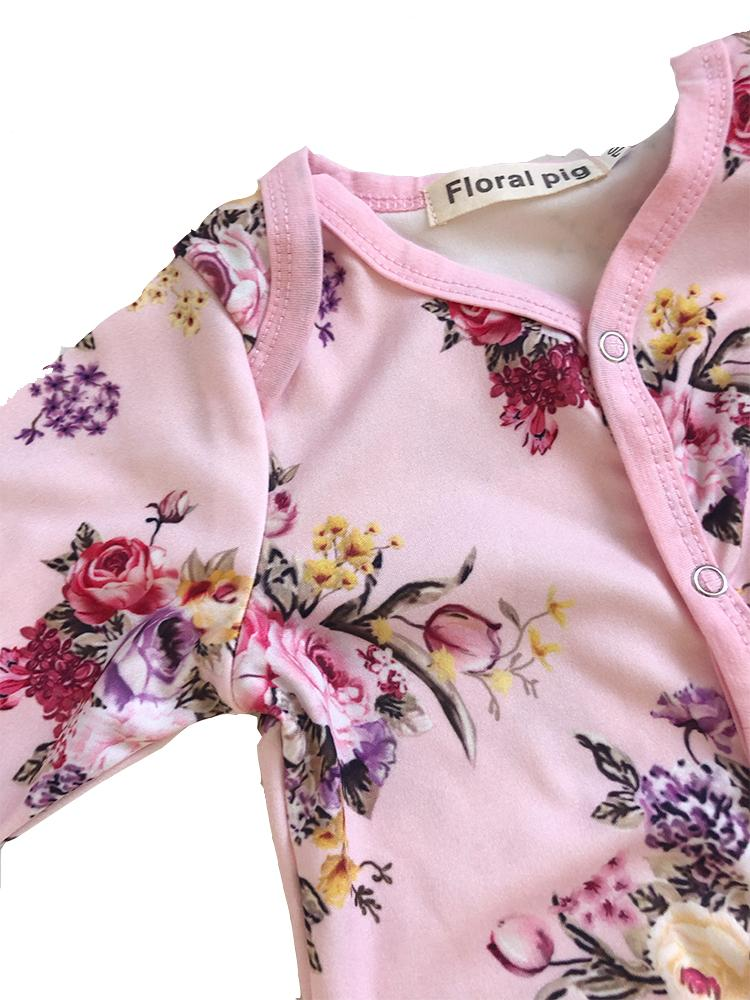 Floral Pig - Pink Floral Romper - Stylemykid.com