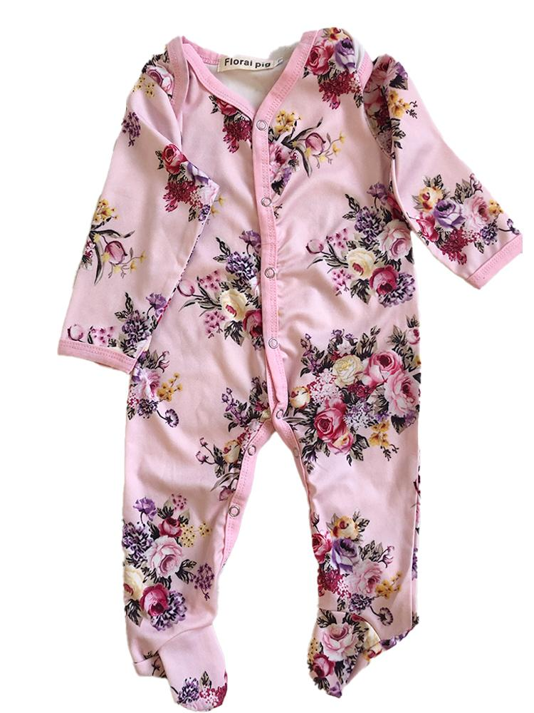 Floral Pig - Pink Floral Silky Romper - Stylemykid.com