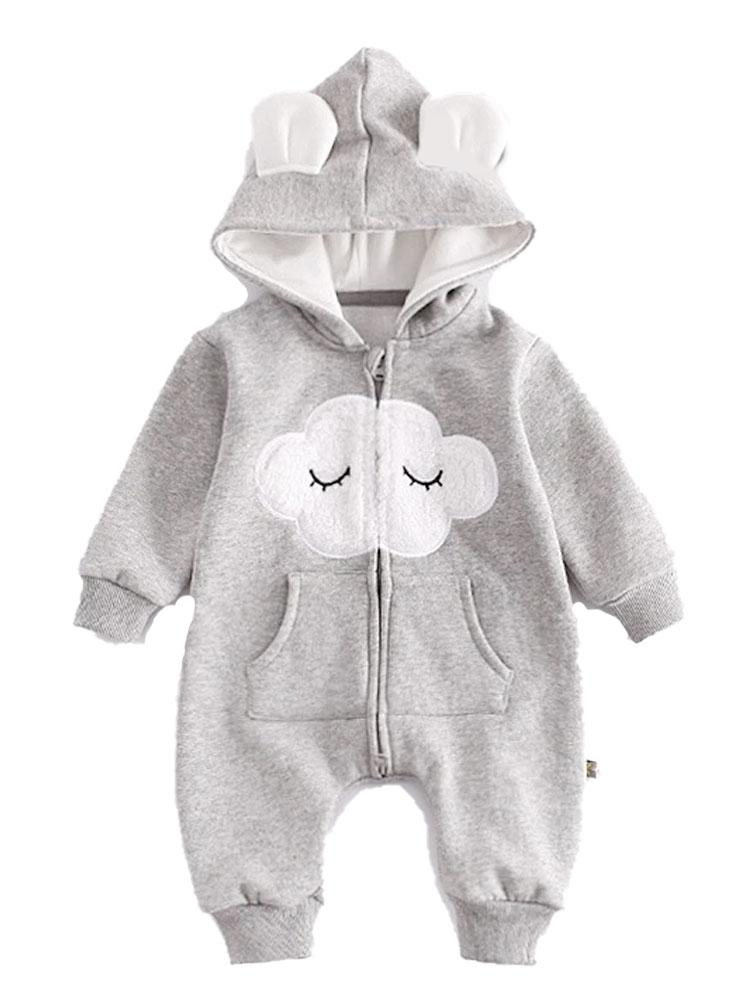 Fluffy Cloud Grey Fleecy Onesie - Stylemykid.com