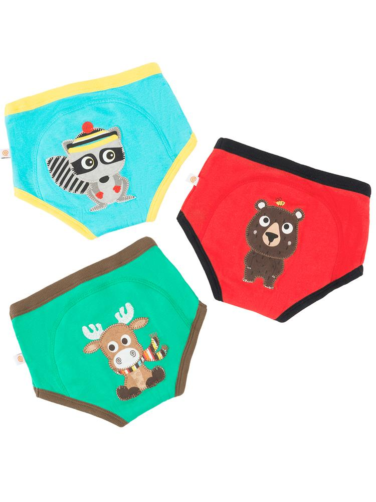 Zoocchini - 100% Organic Cotton Boys/Girls Potty Training Pants (3 pack) - Forest Chums - Stylemykid.com