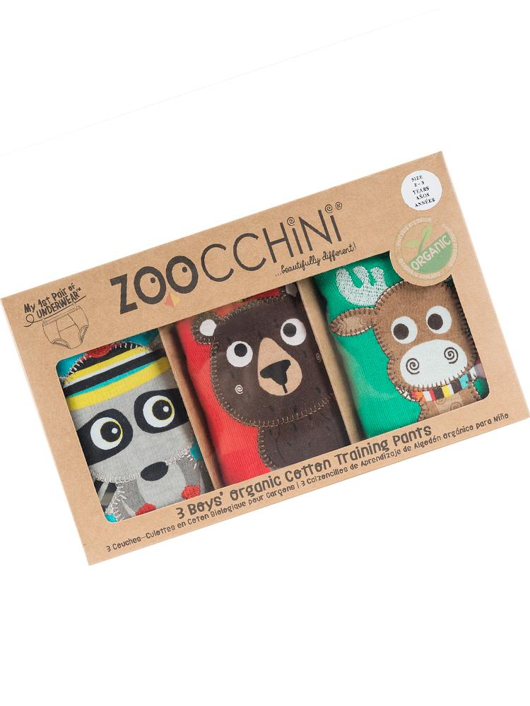 Zoocchini - Boys Forest Chums Organic Potty Training Pants - 3 pack - Stylemykid.com