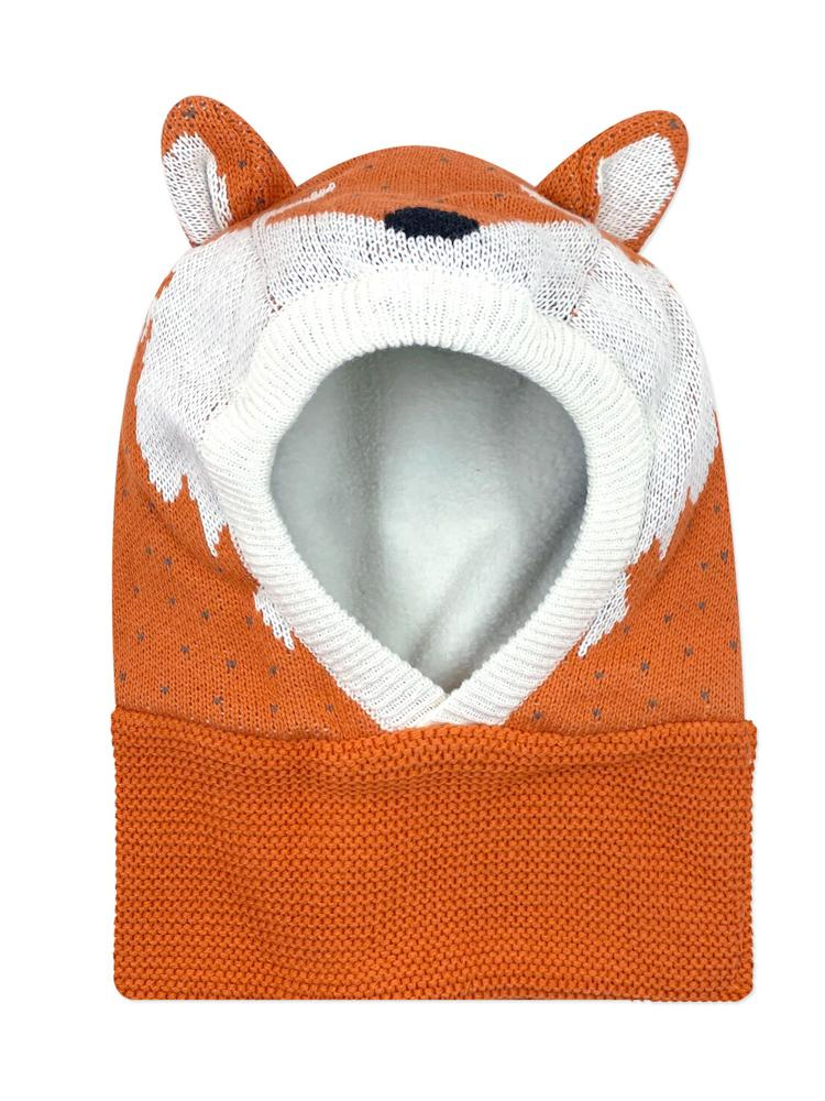 Zoocchini - Baby & Toddler Knitted Balaclava Hat - Finley the Fox - Stylemykid.com