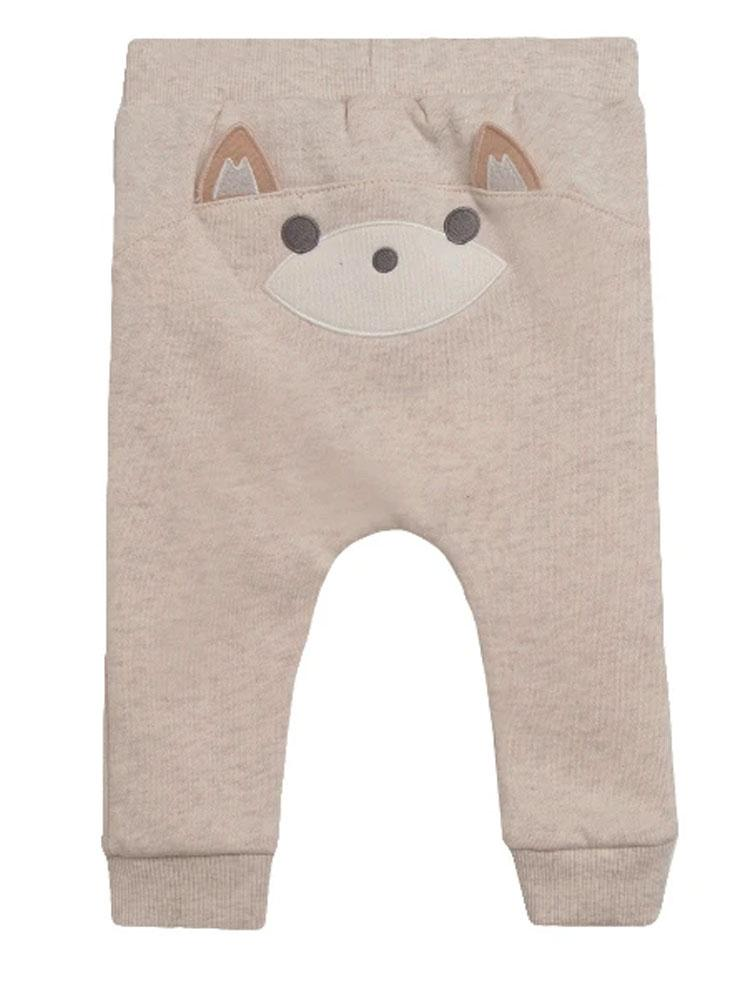 Foxy Bum Joggers in Cream - Unisex 0 to 24 months - Stylemykid.com