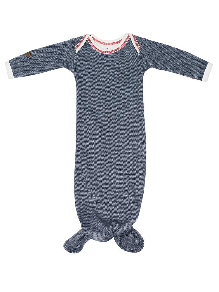Juddlies - Organic Fishtail Knotted Baby Nightgown - Lake Blue - Stylemykid.com