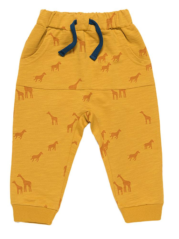 Artie - Everything is Possible Giraffe Mustard Joggers - Stylemykid.com