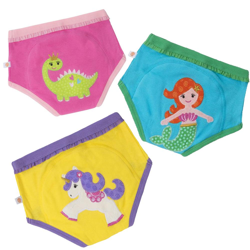 Girls - Fairy Tails 100% Organic Cotton Training Pants (3 pack) - Stylemykid.com