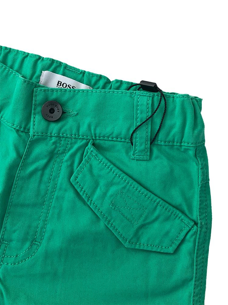 HUGO BOSS - Boys Green Bermuda Pocket Shorts - Stylemykid.com