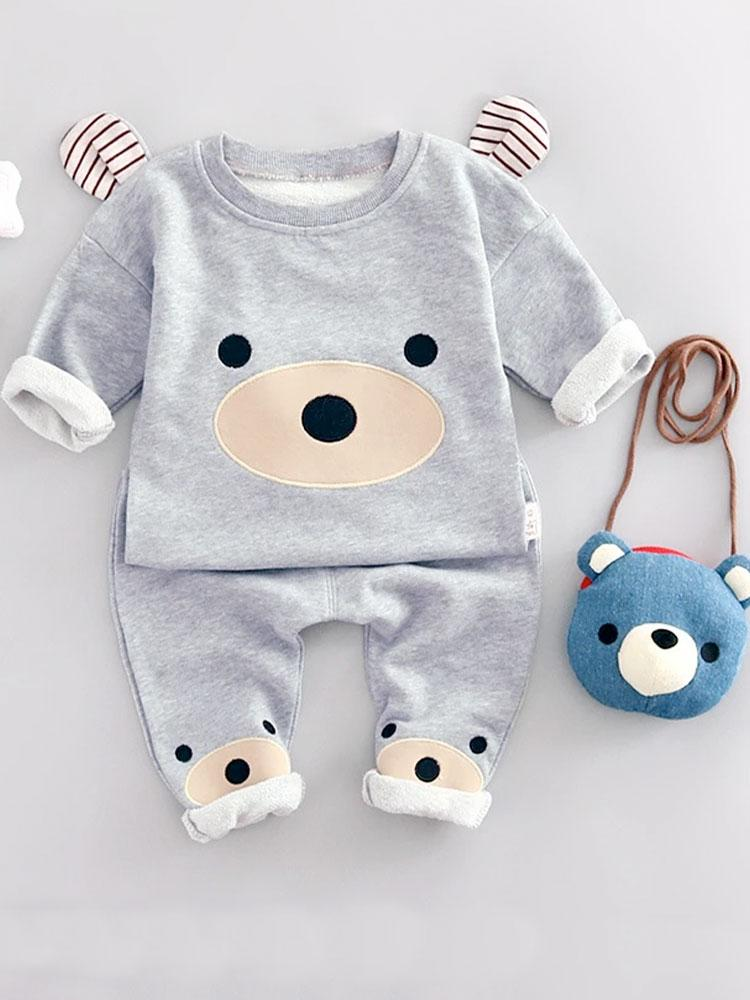 Baby Bear - Sweatshirt and Bottoms Outfit - Stylemykid.com