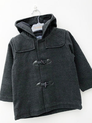 BabyBol - Grey Hooded Duffle Coat - Stylemykid.com
