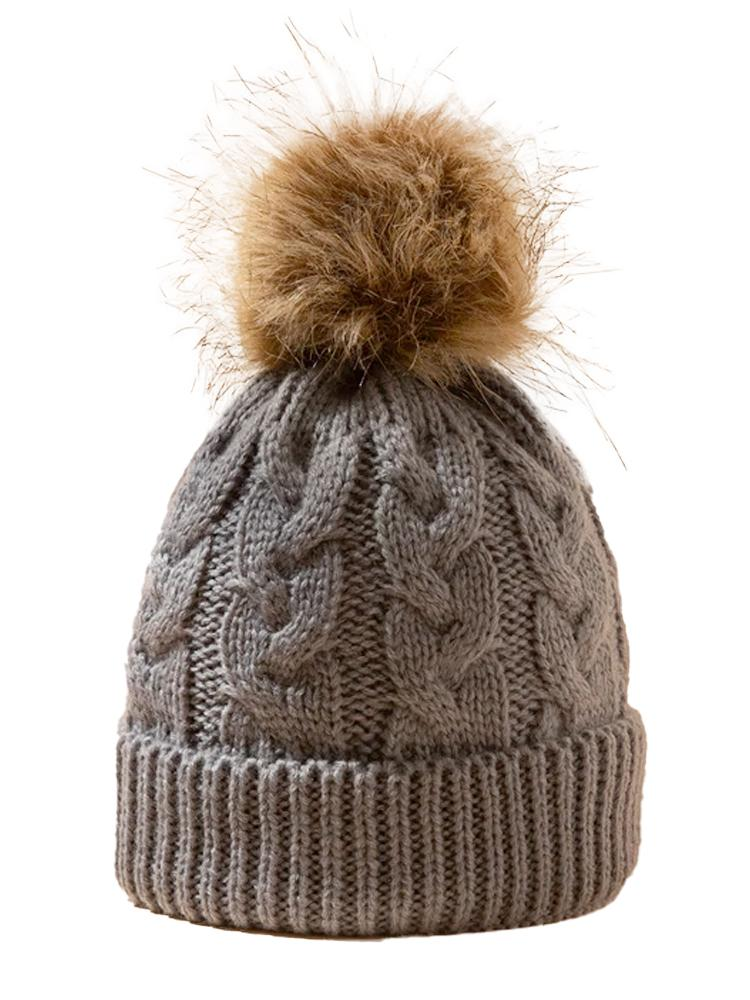 Steel Grey Kids Woollen Bobble Hat - 0-3 Years - Stylemykid.com