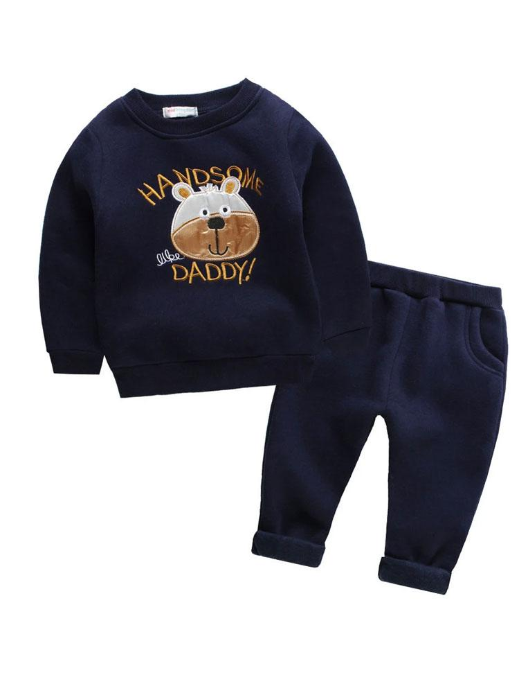 Handsome Like My Daddy Tracksuit with Bear Face - Stylemykid.com