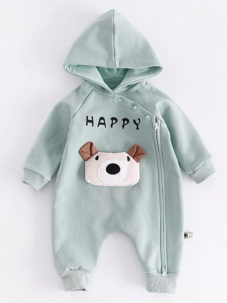 Happy Padded Bear Pale Blue Onesie - Stylemykid.com