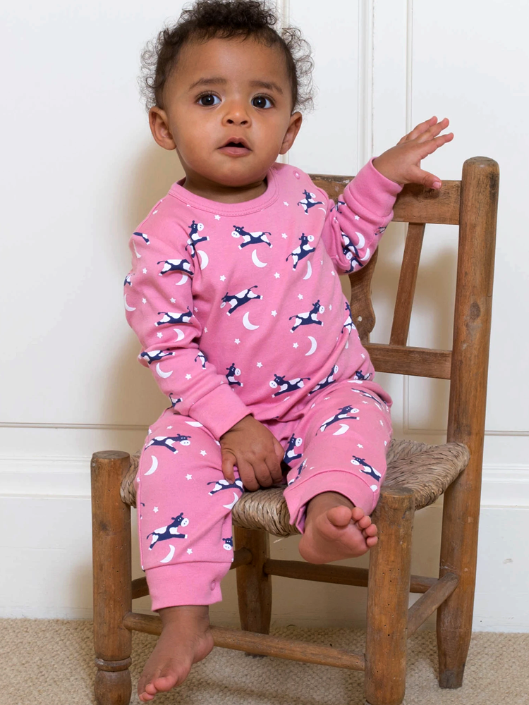 Hey Diddle Rose Pink Organic Romper - Newborn from KITE - Stylemykid.com