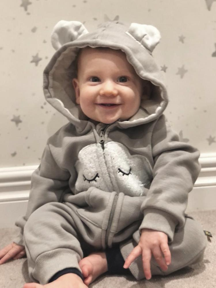 Fluffy Cloud Grey Marl Fleecy Hooded Onesie - Baby Outerwear - Stylemykid.com