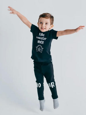 Artie - I Like Monster Hugs - Black T Shirt - Stylemykid.com