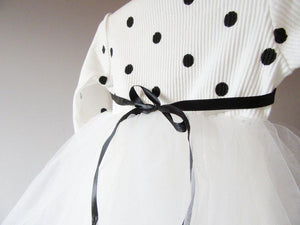 Girls White Polka Dot Party Tutu Dress (new listing) - Stylemykid.com