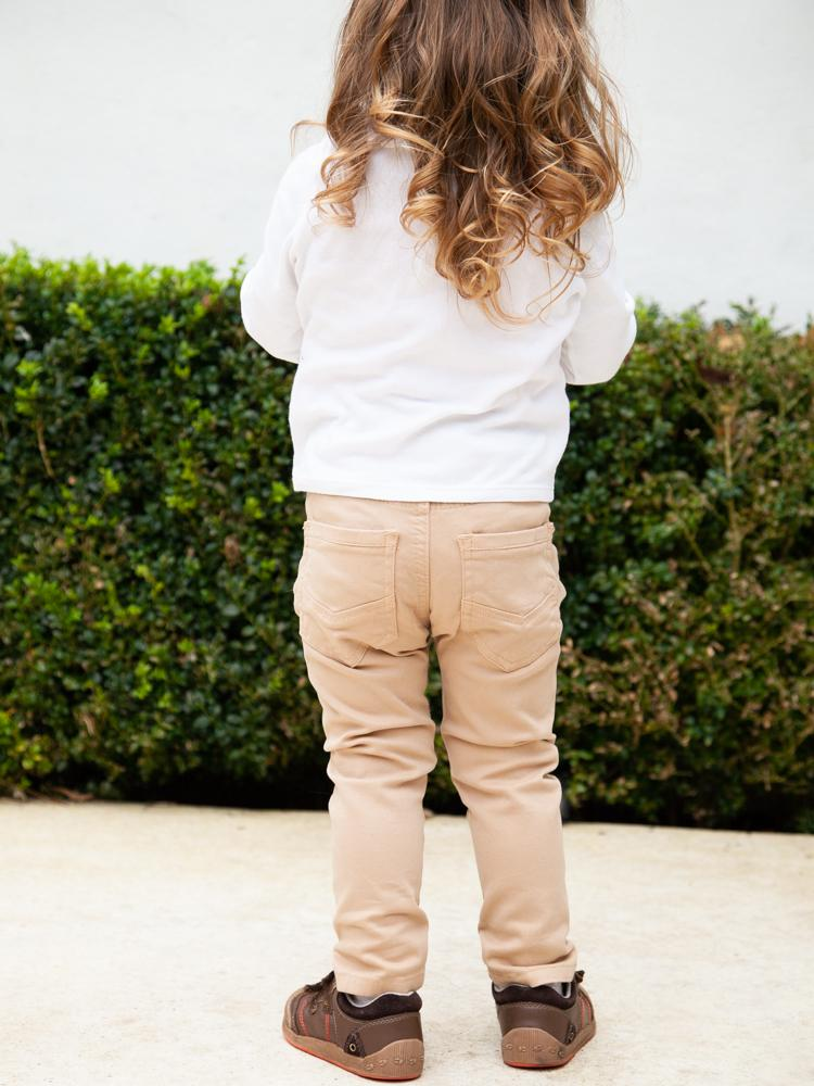 Babybol - Warm Beige Soft Jeans - Kids Pull Up Style for 1 - 6 Years - Stylemykid.com