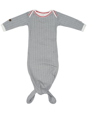 Juddlies - Newborn Organic Fishtail Knotted Baby Nightgown - Driftwood Grey - Cottage Collection - Stylemykid.com