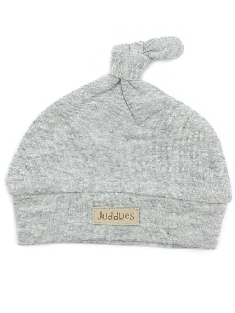 Juddlies - Organic Knotted Hat Newborn Baby - Breathe Eze Collection Grey - Stylemykid.com