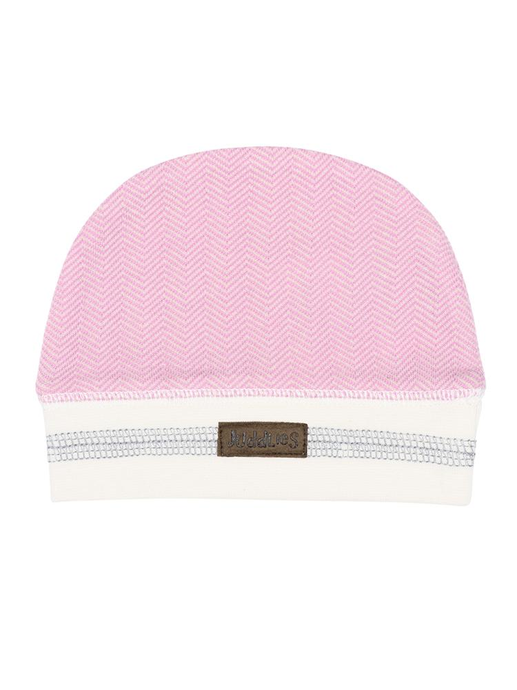Juddlies - Organic Sunset Pink Baby Beanie Hat - Cottage Collection - Stylemykid.com
